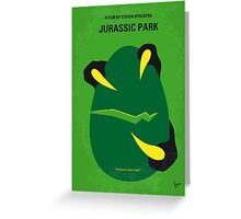 No047 My Jurassic Park minimal movie poster Greeting Card