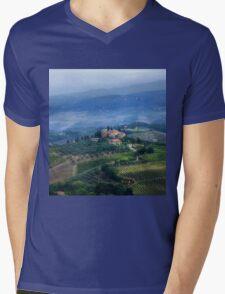 Tuscan countryside Mens V-Neck T-Shirt