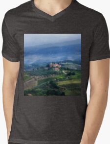 Tuscan countryside Mens V-Neck T-Shirt