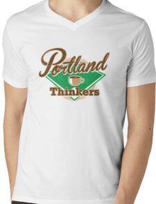 Portland Thinkers Mens V-Neck T-Shirt