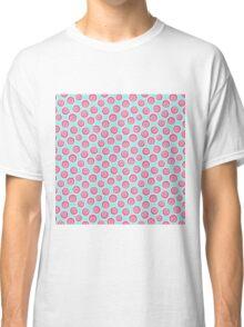 Trendy retro modern teal pink circles pattern Classic T-Shirt