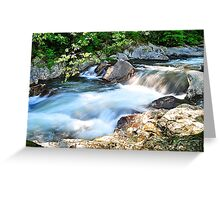 Fast Moving Stream  Greeting Card