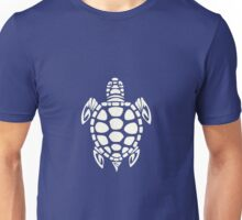 Tribal Sea Turtle Turquoise and Ivory Unisex T-Shirt