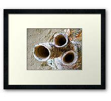 Kiln Pipes Framed Print