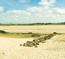 Plouescat beach panorama by Tim Topping