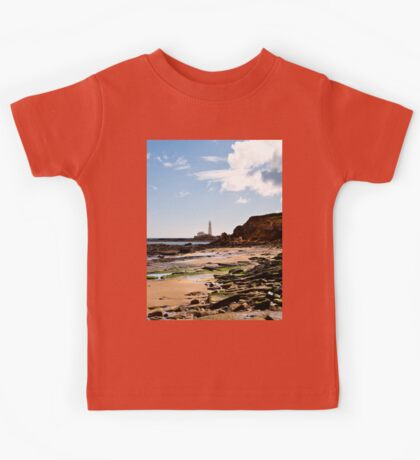 St Mary's Island from Old Hartley Kids Tee