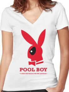 Pool Boy Women's Fitted V-Neck T-Shirt
