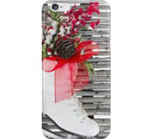 Christmas Ice Skate Shoes Vintage Rustic  iPhone Case/Skin