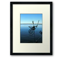 Ghost Net Boat Framed Print