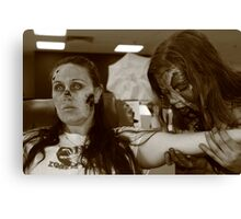 Zombies at the Blood Bank Canvas Print