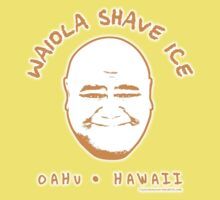 Hawaii 5-0 Waiola Shave Ice Logo (Orange + Halo) by Sharknose