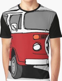 Red Vee Dub Bus Graphic T-Shirt