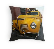 Vintage Taxi Throw Pillow