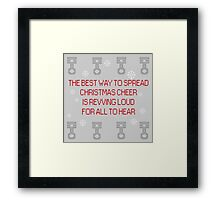 Christmas cheer with pistons Framed Print