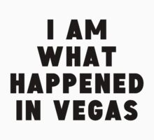 I Am What Happened In Vegas One Piece - Short Sleeve