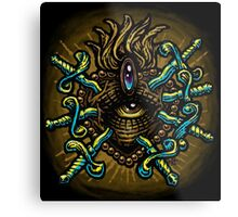 Eye Heart Daggers Metal Print