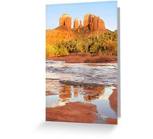 Cathedral Rock and Oak Creek, Sedona, AZ Greeting Card