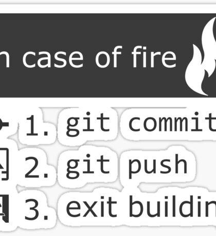 Git on fire Sticker