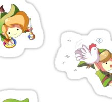 Legend of Zelda: Chibi Links Sticker