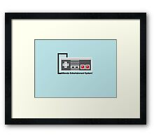 8-Bit NES Controller Poster Framed Print