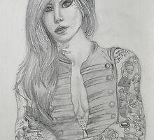 Kat Von D portrait  by grostique