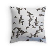 A flock of Seagulls - Yarmouth Nova Scotia Throw Pillow