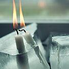 Frozen Lit Candles by Bjarte Edvardsen