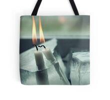 Frozen Lit Candles Tote Bag