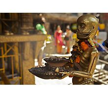 The sinister ashtray holder, Kathmandu  Photographic Print