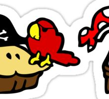Pi and Pie Pirates pattern Sticker