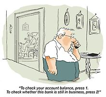 Check your bank account by Peter Kennedy