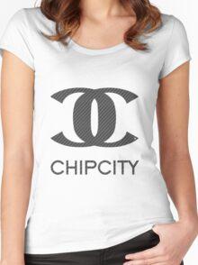 """""""HIGH CLASS"""" Carbon Fiber Women's Fitted Scoop T-Shirt"""