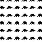 Stegosaurus Silhouette Pattern by jezkemp