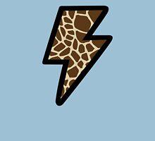 Giraffe Pattern Lightning Bolt Womens Fitted T-Shirt