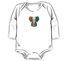 Baby Elephant with Glasses and Ivory Coast Flag One Piece - Long Sleeve