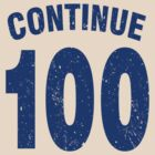 Team shirt - 100 Continue, blue letters by JRon
