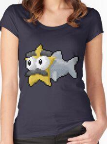 Starfishmanfish pixel tee Women's Fitted Scoop T-Shirt