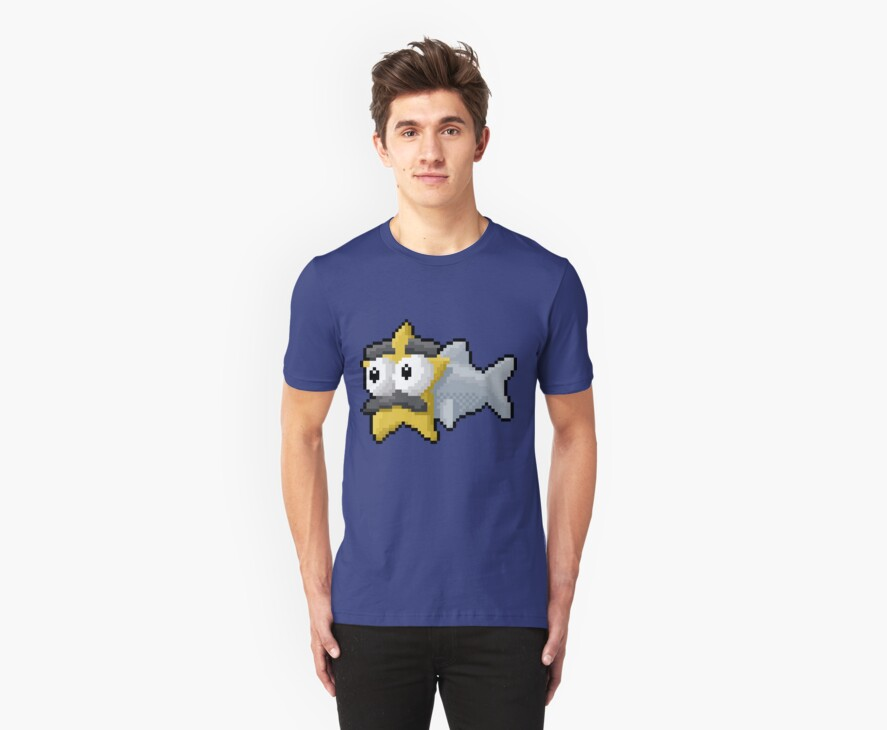 Starfishmanfish pixel tee by Jay Townsend