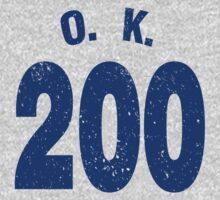 Team shirt - 200 O.K., blue letters Baby Tee
