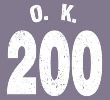 Team shirt - 200 O.K., white letters Kids Clothes