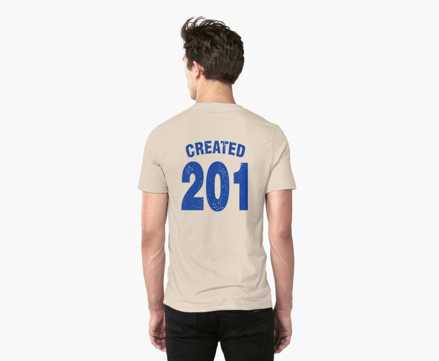 Team shirt - 201 Created, blue letters by JRon
