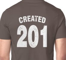 Team shirt - 201 Created, white letters Unisex T-Shirt