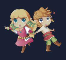 Legend of Zelda Skyward Sword: Chibi Link and Zelda One Piece - Short Sleeve