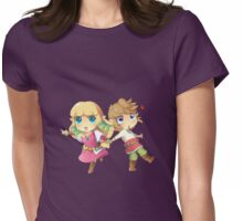 Legend of Zelda Skyward Sword: Chibi Link and Zelda Womens Fitted T-Shirt