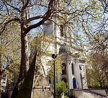 St Anne's Limehouse  by John Gaffen