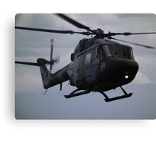 Westland Lynx(ZD278) Army Air Corp Canvas Print