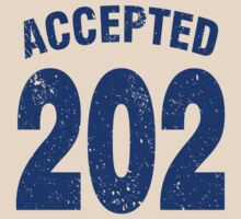 Team shirt - 202 Accepted, blue letters by JRon