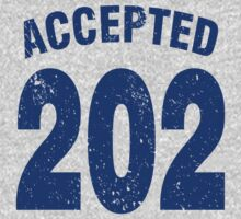 Team shirt - 202 Accepted, blue letters Kids Tee