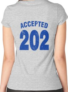 Team shirt - 202 Accepted, blue letters Women's Fitted Scoop T-Shirt