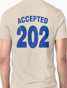 Team shirt - 202 Accepted, blue letters T-Shirt